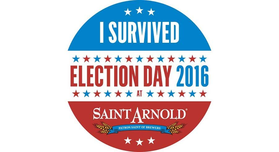 Saint Arnold Brewing to Become Voter Headquarters on Election Day
