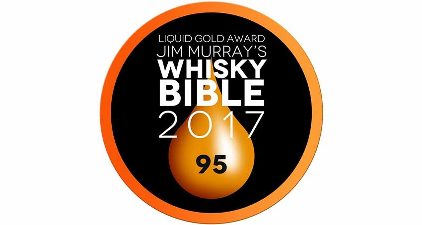 Wyoming Whiskey Barrel Strength Wins Liquid Gold Award in Jim Murray's Whisky Bible 2017 – American Whiskey News