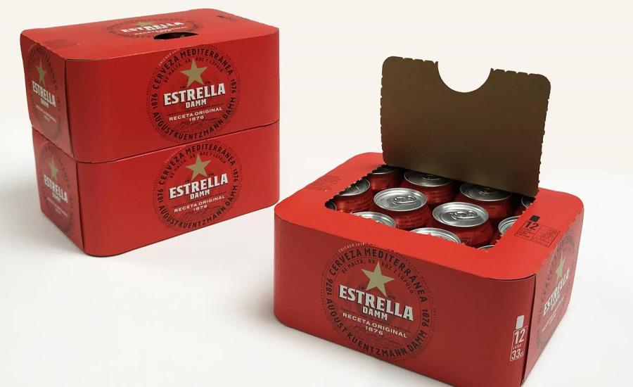 Estrella Damm debuts new paperboard packaging