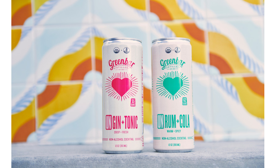 Greenbar Distillery non-alcoholic canned cocktails
